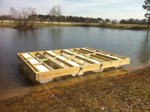 My Floating Dock Build | Property Projects & Construction | Pond Boss Forum | playground ...