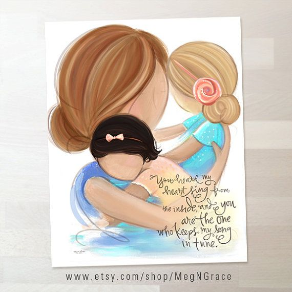 Girl's Room Decor Art for Girl's Room Mother and by MegNGrace