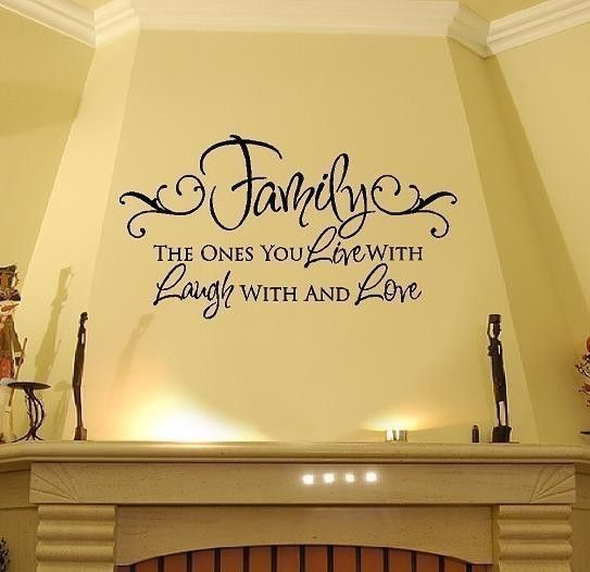 Tatuajes de pared familiar Live Laugh Love por openheartcreations