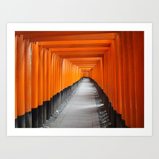Fushimi Inari Art Print by Claire Louise - $15.00
