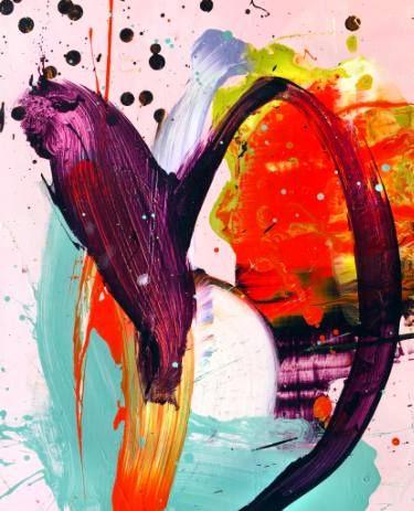 "Saatchi Art Artist Chuck Hipsher; Bright Abstract Painting, """"UNE BRISA SOLAR"""" #art"