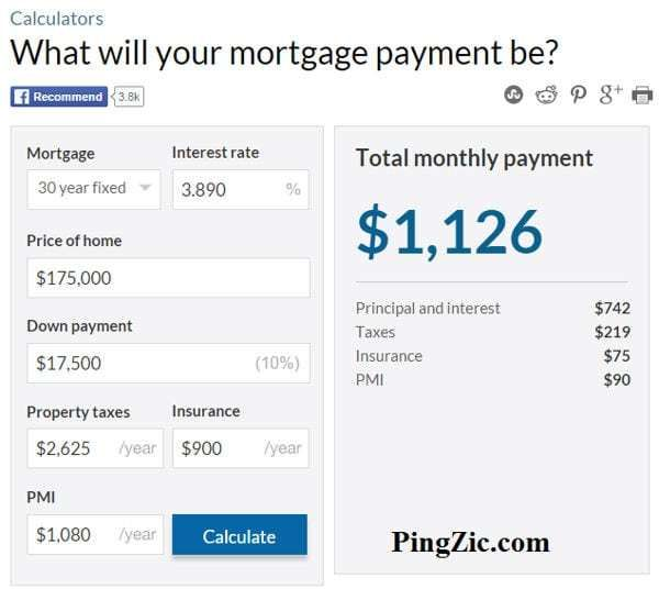 Mortgage Calculator Excel 7 Online Mortgage Mortgage Estimator Mortgage Payment