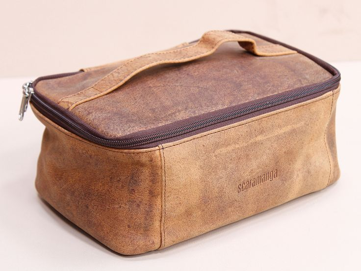 Leather Toiletries & Cosmetics Travel Bag https://www.scaramangashop.co.uk/item/8060/90/Gifts-For-Women/Leather-Toiletries--Cosmetics-Travel-Bag.html