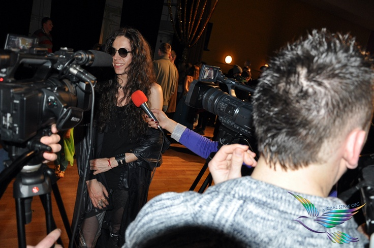 Michal Szpak during an interview