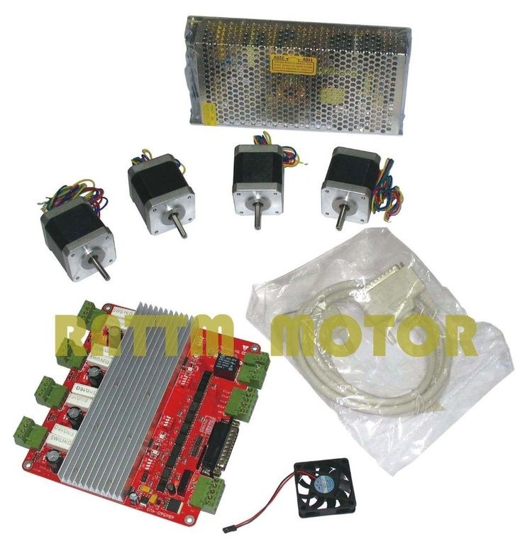 172.39$  Buy now - http://ali5hl.worldwells.pw/go.php?t=359070921 - 4 axis CNC kit 4 NEMA17 78 oz-in stepper motor + 4 axis CNC board 172.39$