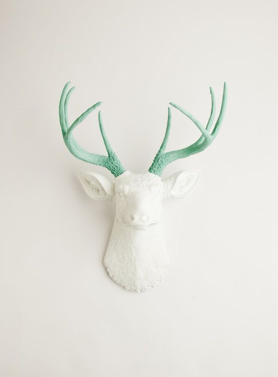 White Faux Taxidermy Faux Deer the Isabella