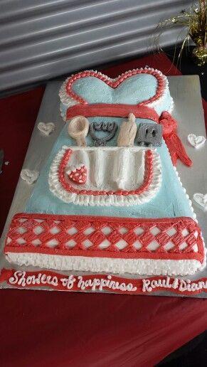 Retro bridal shower cake
