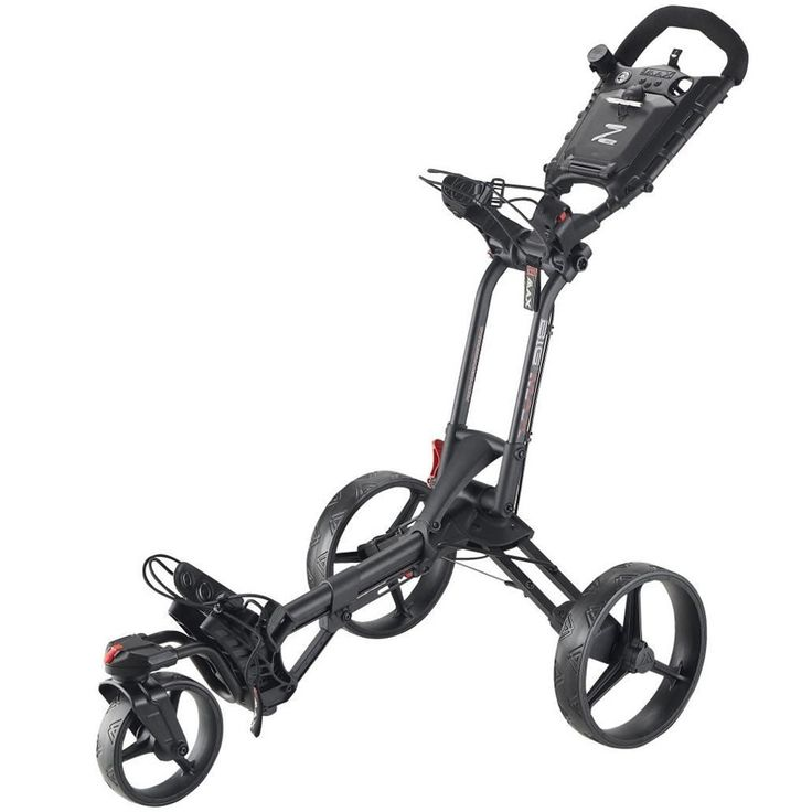 This excellent value Z360 golf trolley push cart by Big Max offers the practical and unique ability for the front wheel to turn 360 degrees!