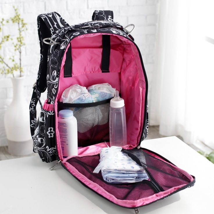 Ju Ju Be Be Right Back Diaper Bag Backpack Shadow Waltz