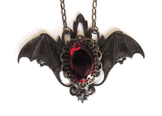awesome vampire jewelry | Gothic Jewelry, Vampire Bat Necklace, Victorian Goth Jewellery...