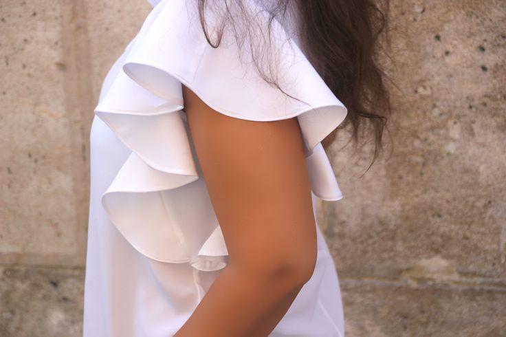 DIY Costura: Como hacer blusa con volantes en las mangas (patrones gratis)