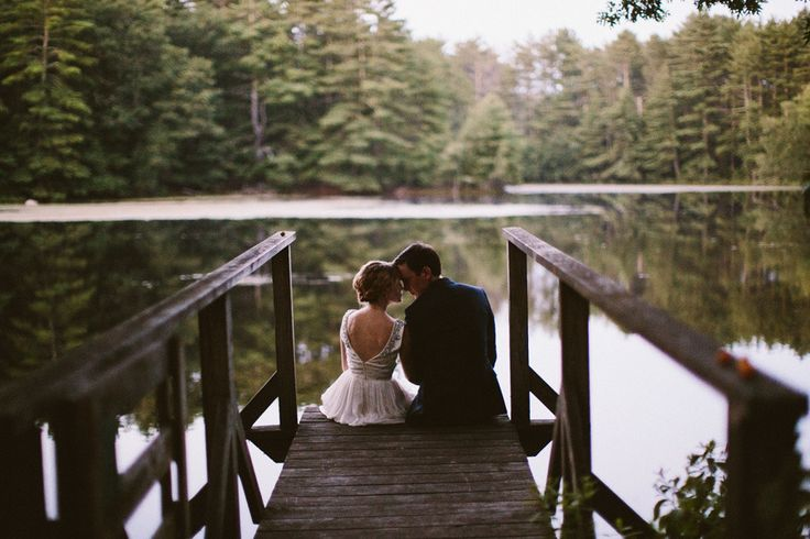 Whimsical Campground Wedding  Read more - http://www.stylemepretty.com/rhode-island-weddings/2014/02/07/whimsical-campground-wedding/