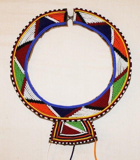 African Tribal Jewelry for Women   African Maasai Masai Beaded Ethnic Tribal Wedding Necklace Jewelry ...