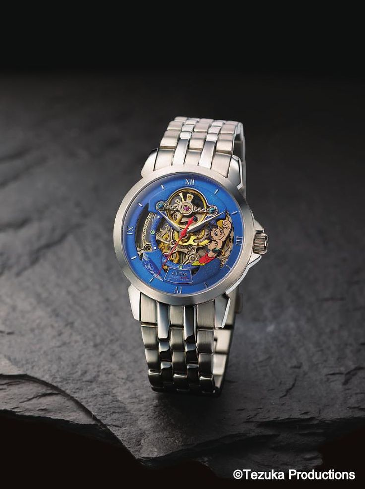 ASTRO BOY Mighty Atom TIME Watch Stainless Steel Band M 60th Anniversary Osamu Tezuka 1952 pcs Limited