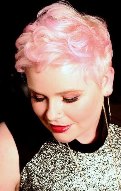 pastel pink short hair. #strandzsalonboutique
