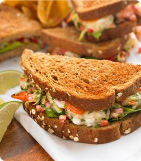recipe: shrimp salad melt [14]