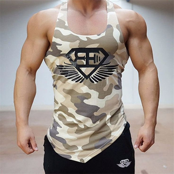 Men's Army Camo Tank Top