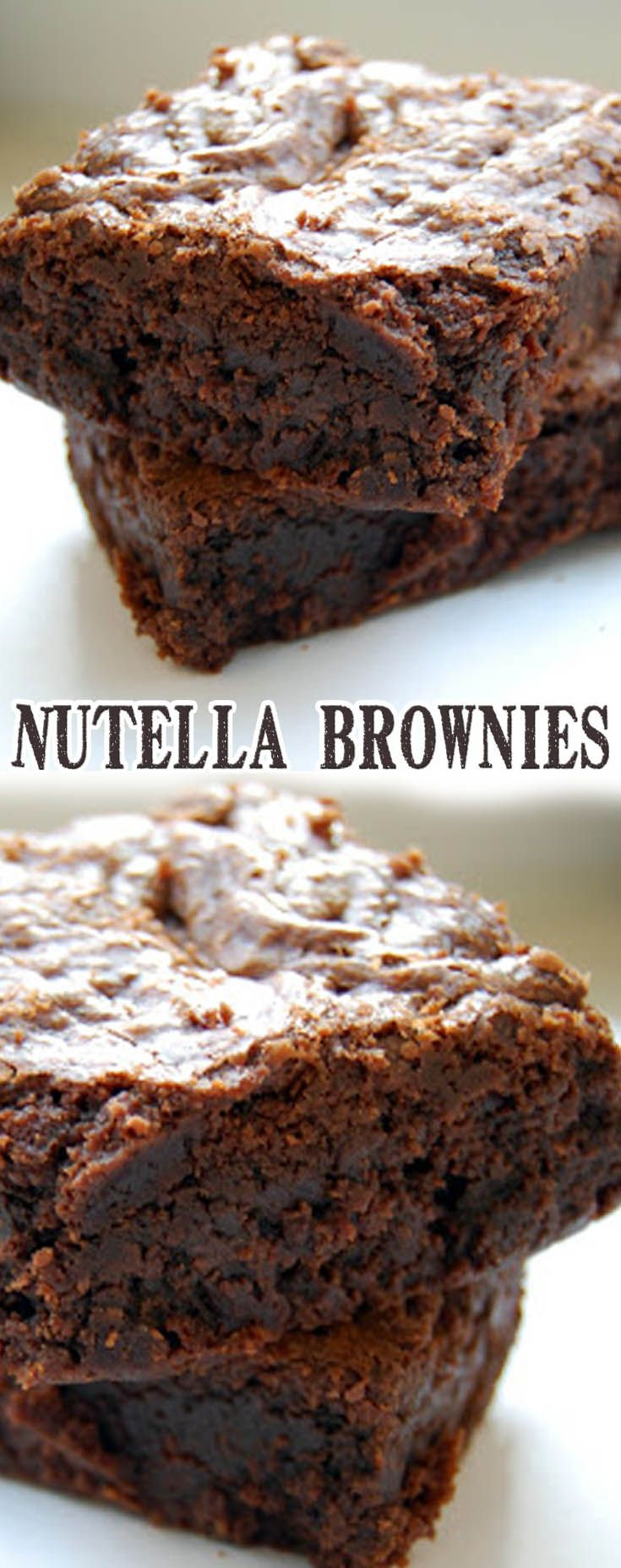 Nutella Brownies Recipe. #CompleteRecipes #recipe #recipes #food #foodgasm #cleaneating #healthyfood #healthy #healthyrecipes