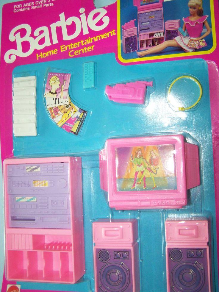 1989 Barbie Home Entertainment Center Accessories