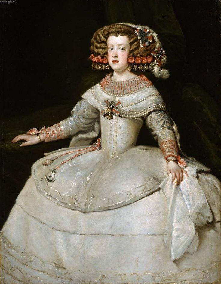 Diego Rodriguez de Silva Velazquez 1599-1660 SPAIN Retrato 1653 de la infanta María Teresa 1638-1683, hija de Felipe IV de España e Isabel de Francia. Casó con Luis XIV de Francia.