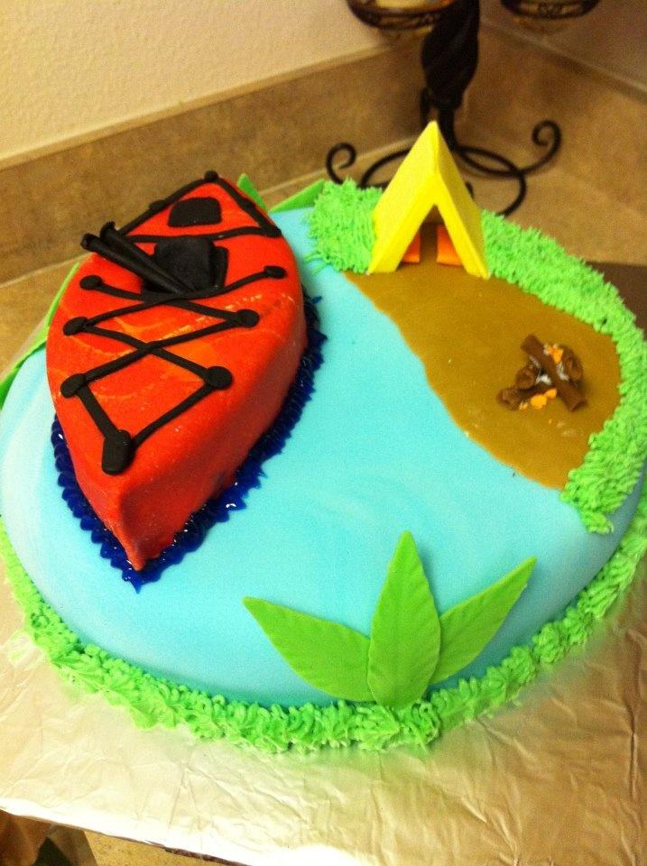 Groom's cake - Kayak/camping