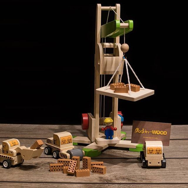 Wooden crane by PLAN TOYS