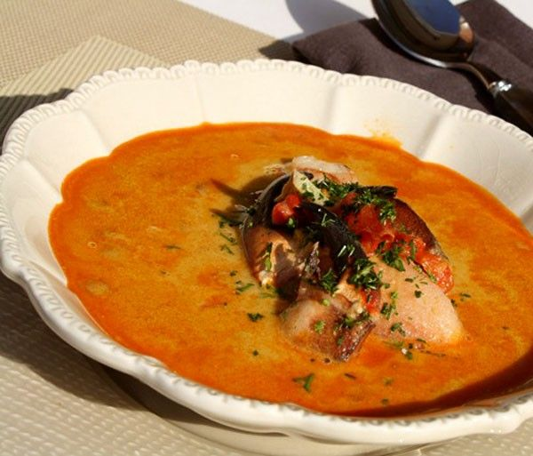 Fish and Crab Soup Recipe - Spicy Fish Soup -  | eatwell101.com * with Fish stock