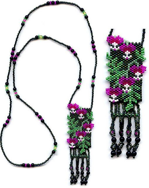 Bleeding Hearts Beaded Necklace | by maddiethekat