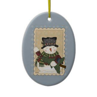 Frosty Gets A Holiday Tree Christmas Tree Ornaments