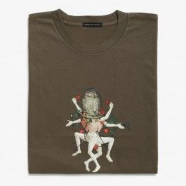 """""""The Garden of Earthly Delights"""" T-shirt (Detail of an Owl)"""