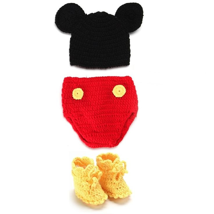 Morbido Handmade Crochet Del Cotone del Bambino Appena Nato Fotografia Puntelli Maglia Fotografia Costume Per 0 ~ 12 Mesi I Bambini Cappelli Imposta KF498