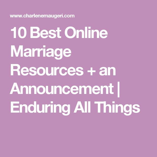 10 Best Online Marriage Resources + an Announcement | Enduring All Things
