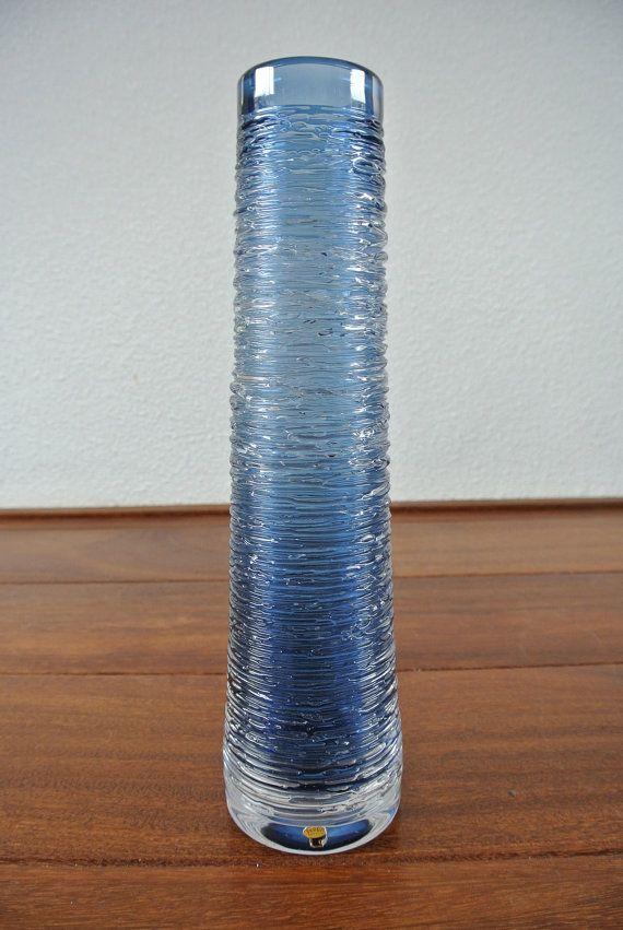 Vintage Skruf Sweden Spun Vase Designed By Bengt By