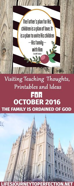 Visiting Teaching Ideas for October 2016: The Family Is Ordained of God