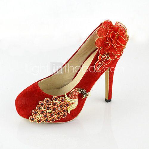 Women's Shoes Leatherette Stiletto Heel Heels Pumps/Heels Wedding Red - EUR  €37.99