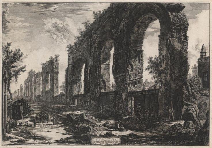 Giovanni Battista Piranesi, Vedute di Roma: Resti dell'acquedotto di Nerone, 1760-78, acquaforte, Baillieu Library Print Collection, University of Melbourne