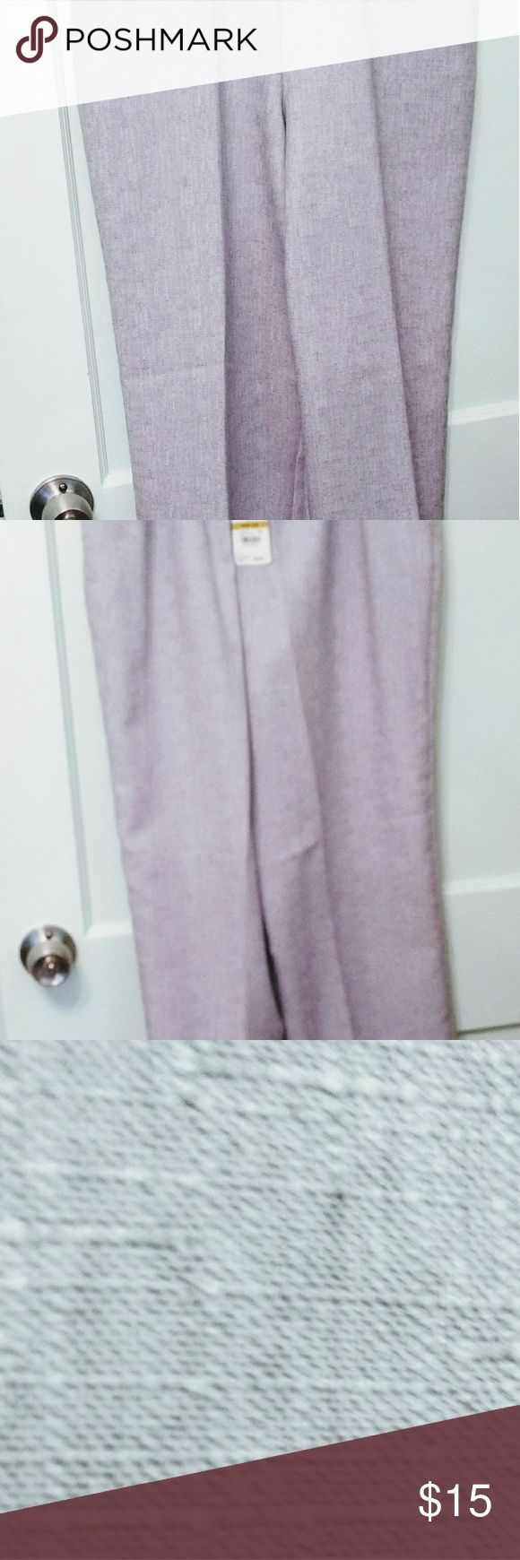Alfred Dunner light grey flat front pants NWT These pants have a beautifully textured, light weight fabric. They have a flat front for a smooth look. Side pockets. Original tags intact. Care instructions: wash cold, gentle cycle; tumble dry cool. Iron on low, if needed. These pants are a great addition to your spring & summer wardrobe. See my other listings for go with blouses. Alfred Dunner Pants