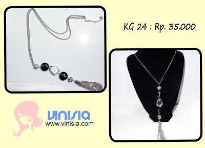 Belanja Aksesoris Wanita Online: [KG 024] Kalung Batu Putih