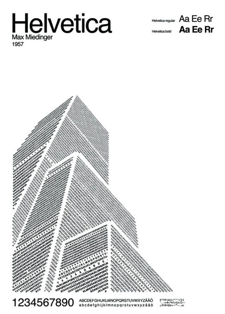 Helvetica typeface Illustrations designed by POP and Pär Ågren 1