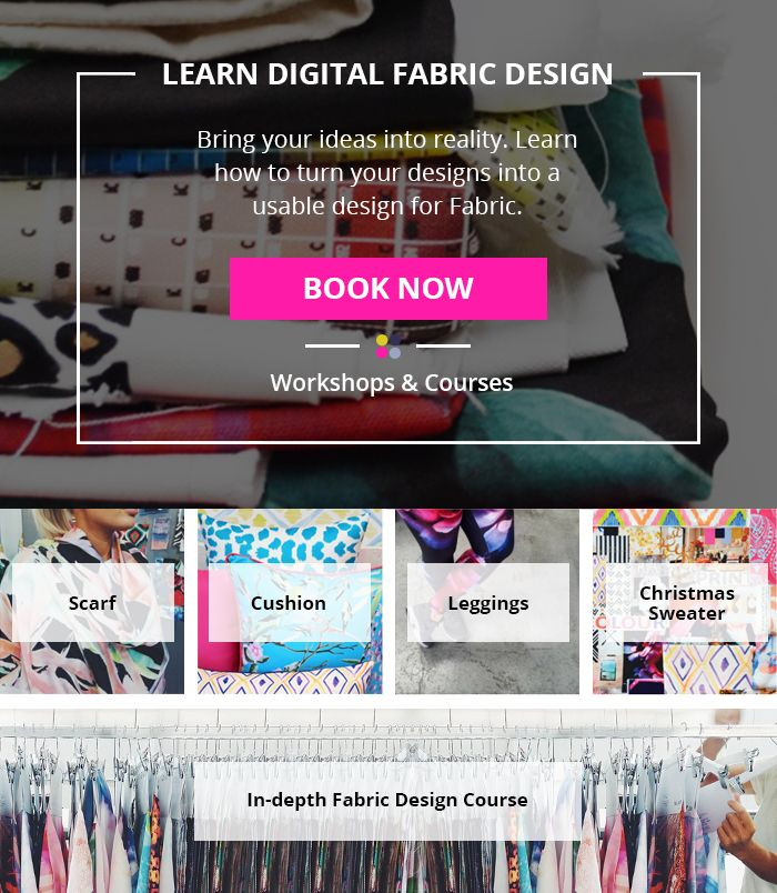 Have you ever wanted to design your own textile prints but are unsure where to start? Learn to design and develop beautiful artwork, technically repeat your creative ideas, create your own products and prepare your files for digital textile printing here at Digital Fabrics School?With our industry experts on hand we can teach you fundamental design methods and help you to design print and patterns for fashion, home-wares or any other project that you can imagine.