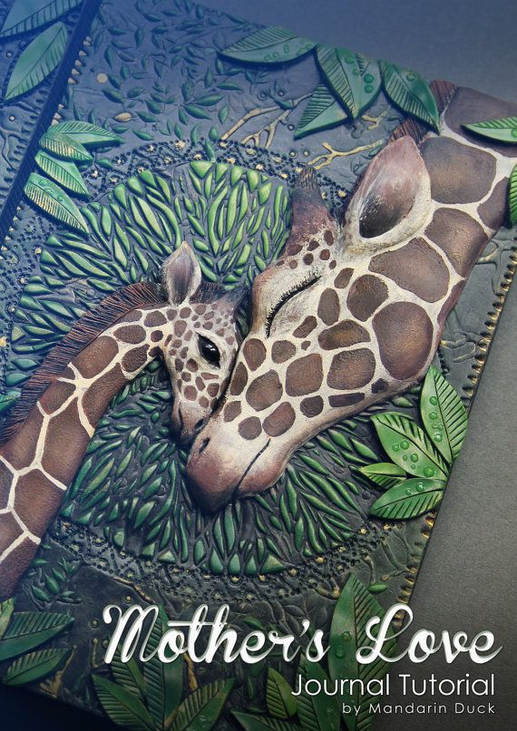 Polymer Clay Journal Tutorial Giraffe Journal by MyMandarinDucky