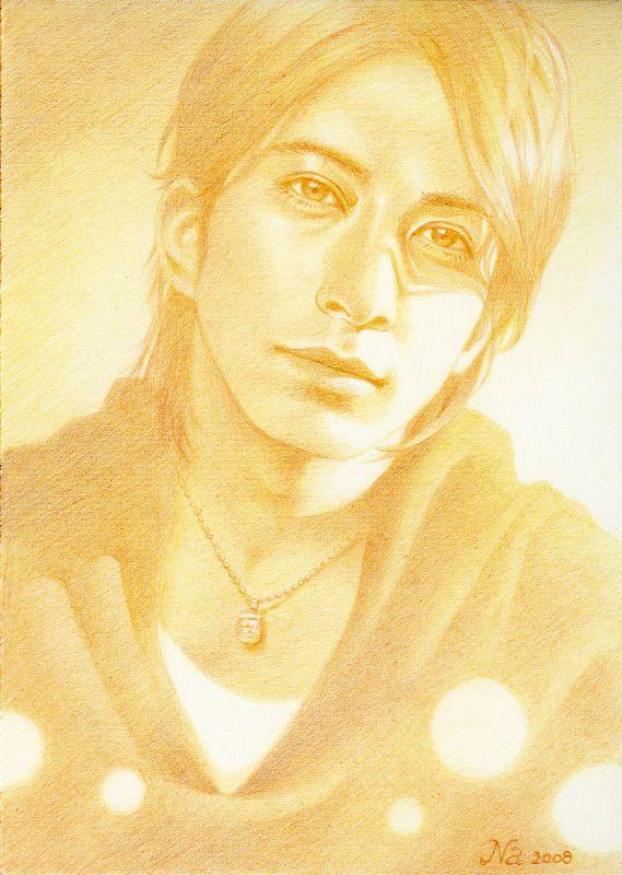 2008 岡田准一 illustration by Naoko Aoyama