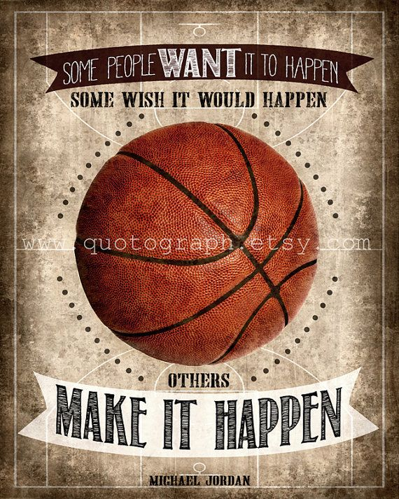 Michael Jordan Basketball Quote  photo print   by quotograph, $14.00
