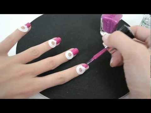 Half moon nail design using WetnWild nail polishes