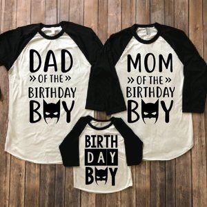 Batman Birthday Shirt Party Matching Parents Family Shirts Bat Mom Dad Theme