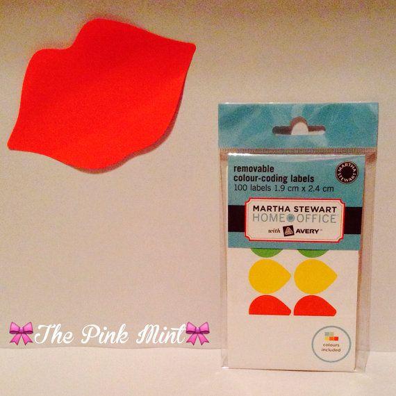 Martha Stewart Colour Coded Dew Drop Labels