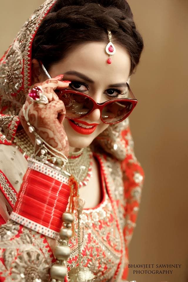 Photographer - Bridal Clicks Photos, , Red Color, Bridal Mehandi, Chooda, Bridal Photography  pictures, images, vendor credits -  - 733.