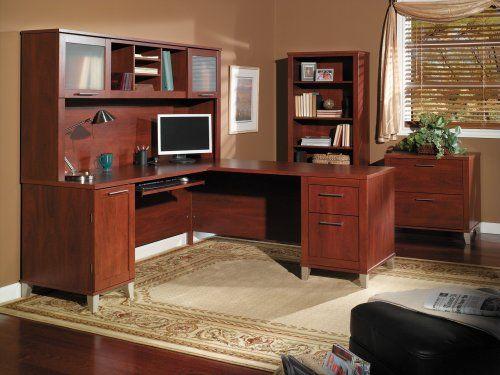 Somerset 71W L Shaped Desk in Hansen Cherry -  http://www.wahmmo.com/somerset-71w-l-shaped-desk-in-hansen-cherry/ -  - WAHMMO