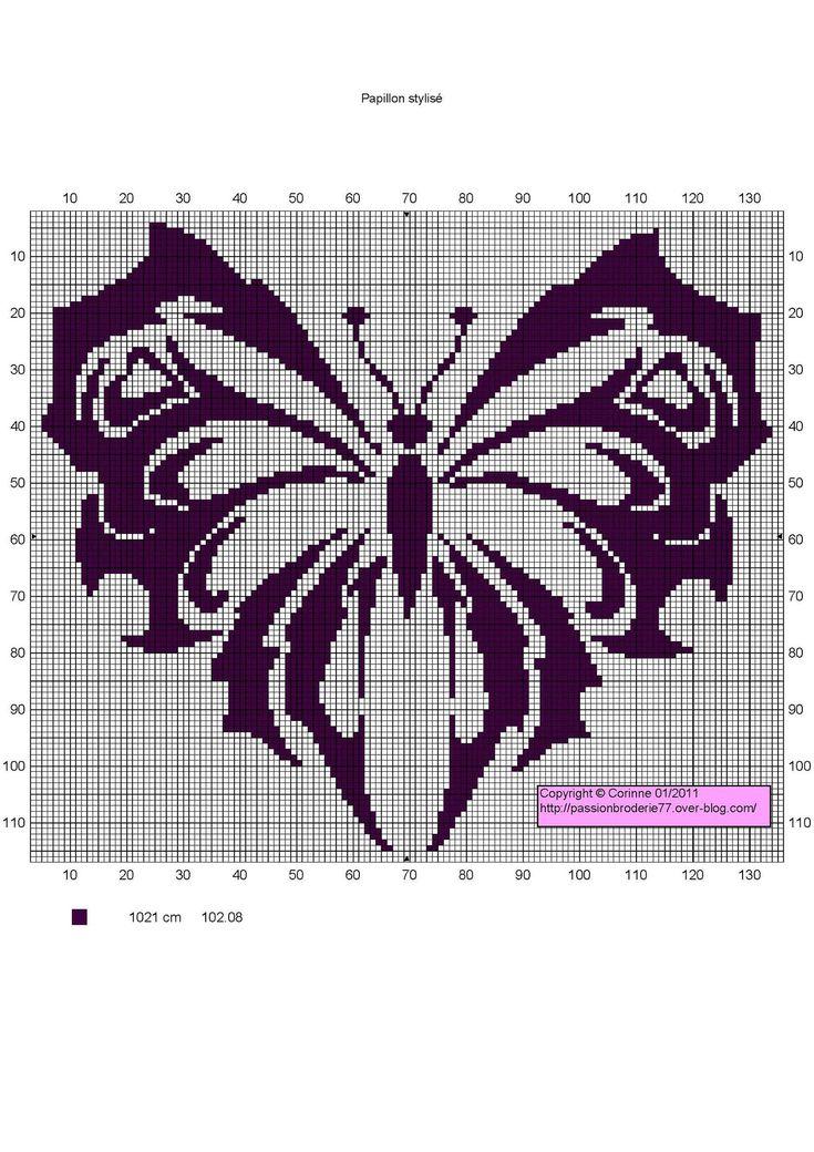 Papillon stylisé                                                                                                                                                                                 Plus