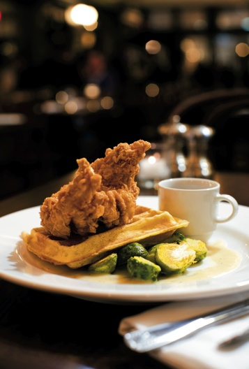 Country Fried Chicken and Waffles at Marvin.